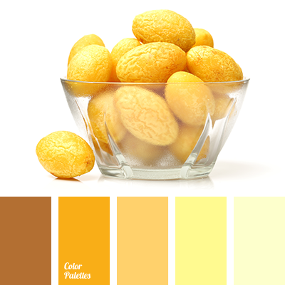 bright yellow, brown-yellow, color of ocher, dark yellow, lemon