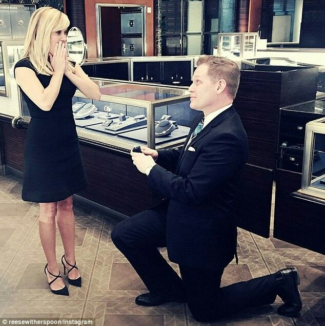 Taking a walk down memory lane! Reese Witherspoon appeared to be taken by surprise when a man surprised her with a proposal at the Tiffany & Co flagship store in New York on Wednesday