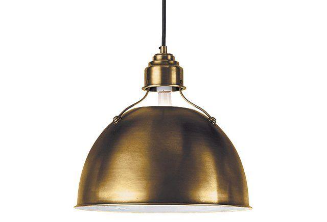 Eugene Medium Pendant, Antiqued Brass