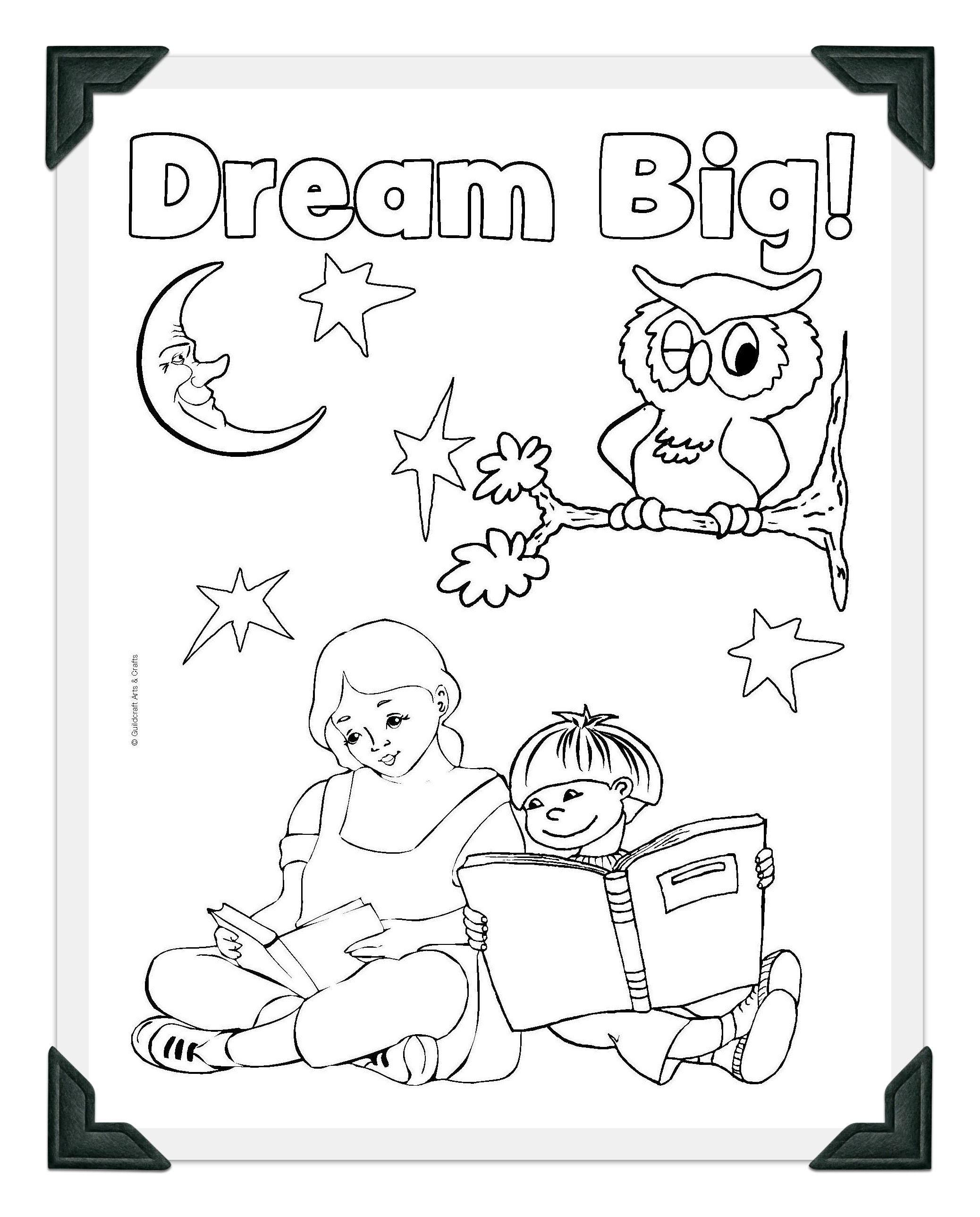 Printable Dream Big Coloring Sheet