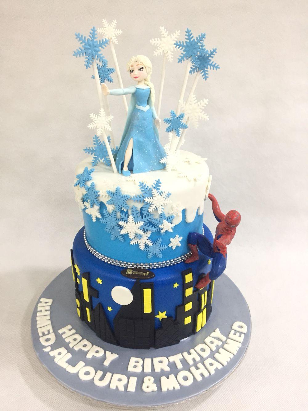 Elsa spidey with images cake designs birthday cake