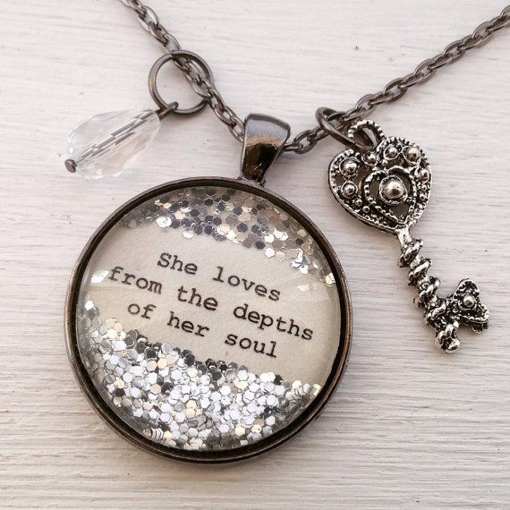 Inspirational necklace She loves from the by