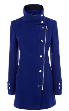 f7a9cc6aaa 2013 New Karen Millen CR016 Blue Signature Moleskin Coat Outlet.....I saw  it on their website and fell in love!