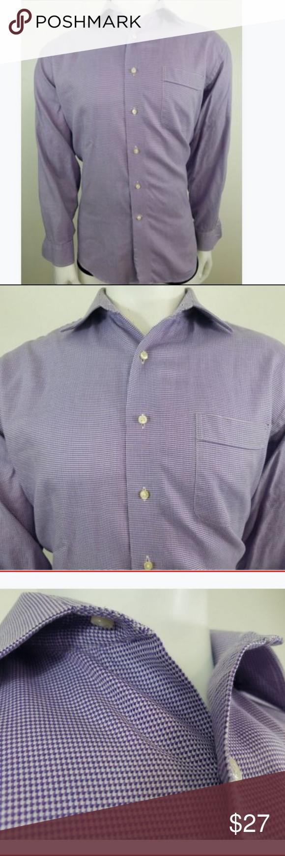 Tommy Bahama Dress Shirt 165 Large Purple Pattern My Posh Closet