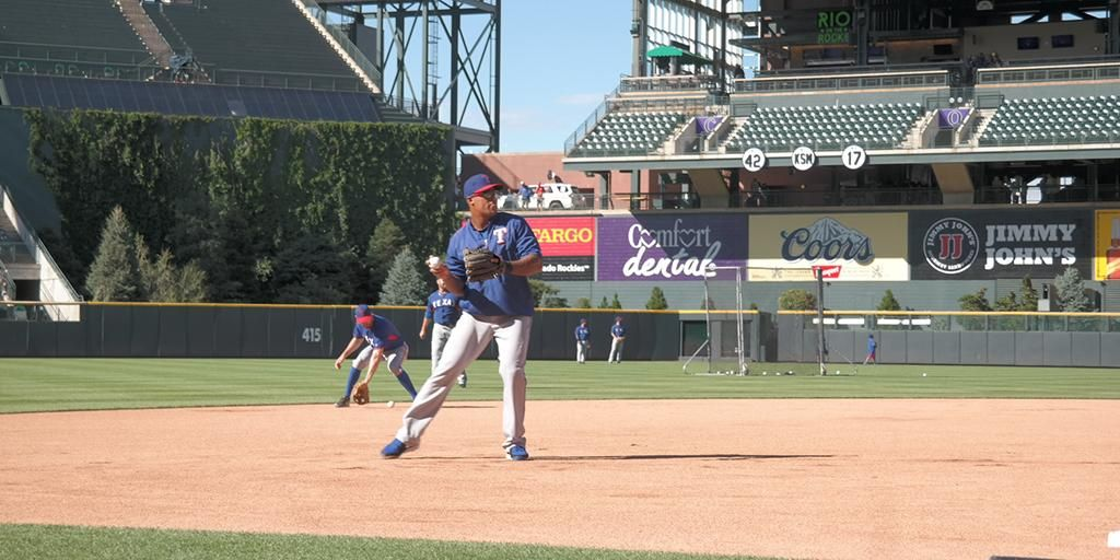 Hot corner on lock. #LetsGoRangers