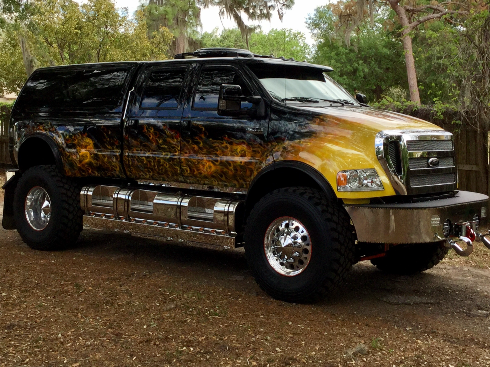 This truck was built by f650 supertrucks out of augustageorgia the truck since its conception
