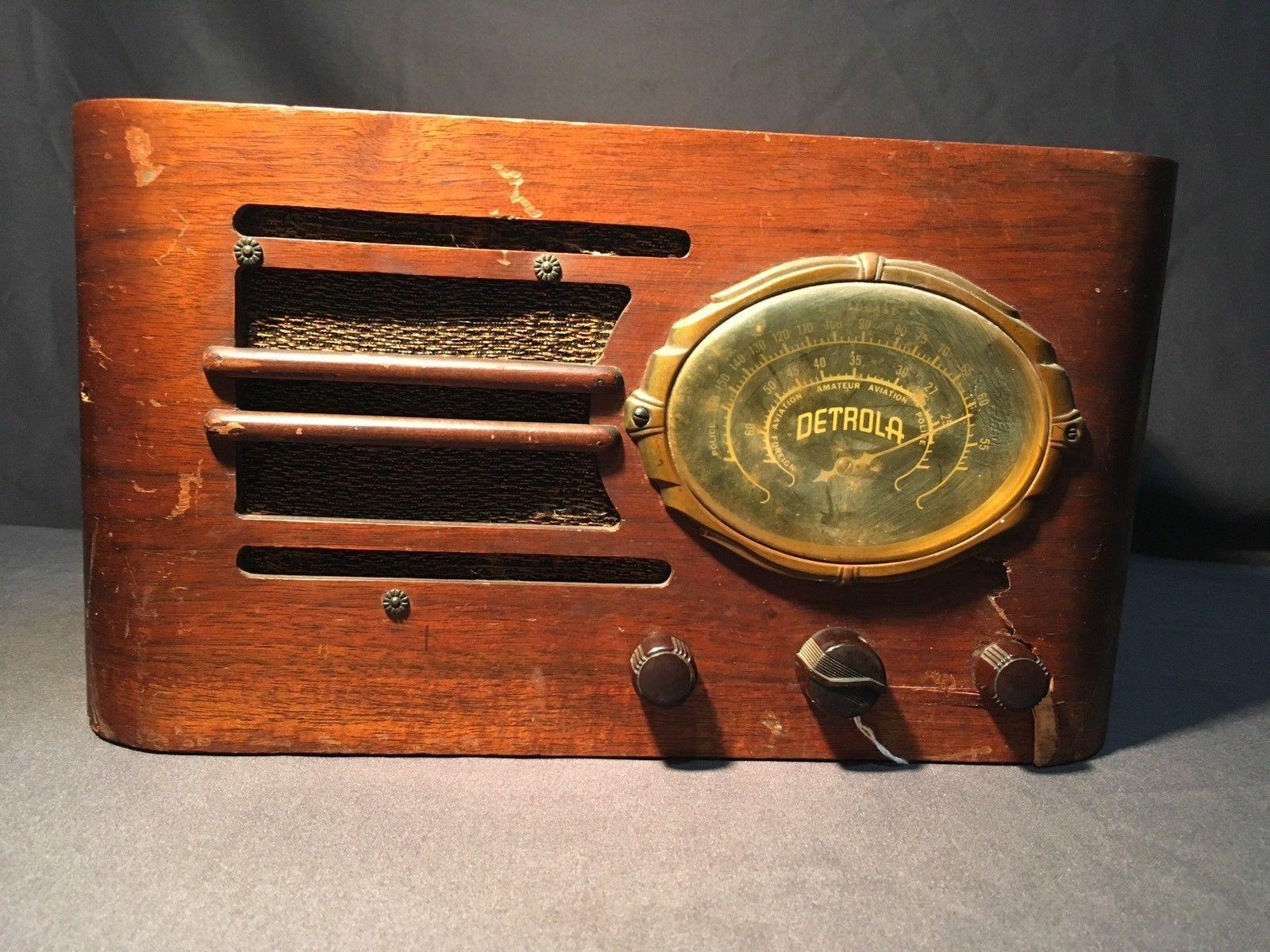 Detrola Tube Radio Model 475702 Ham Radio Parts Or Restore Ebay Vintage Radio Ham Radio Old Radios