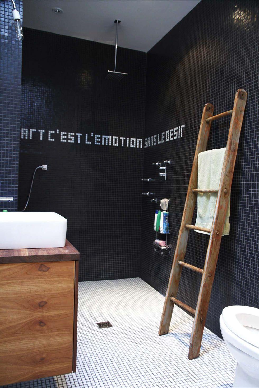 Bagno Moderno Bianco E Nero.Bagno Moderno Nero Cool Bagno Moderno A Terra Con Polimerico Ulivo