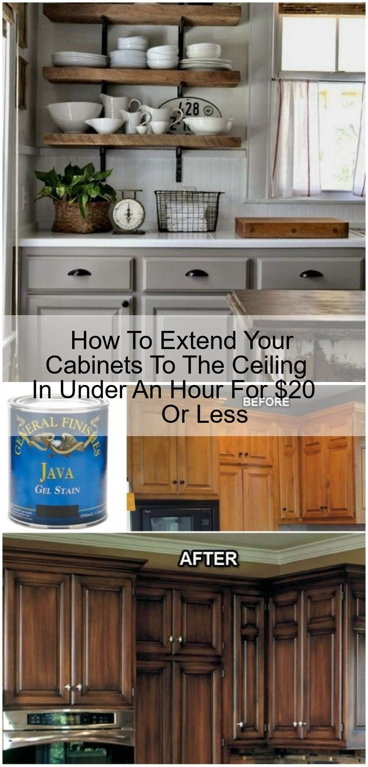 How To Extend Your Cabinets To The Ceiling In Under An Hour For 20 Or Less How To Extend Your Cabinets To The Ceiling In Under An Hour For 20 Or Less