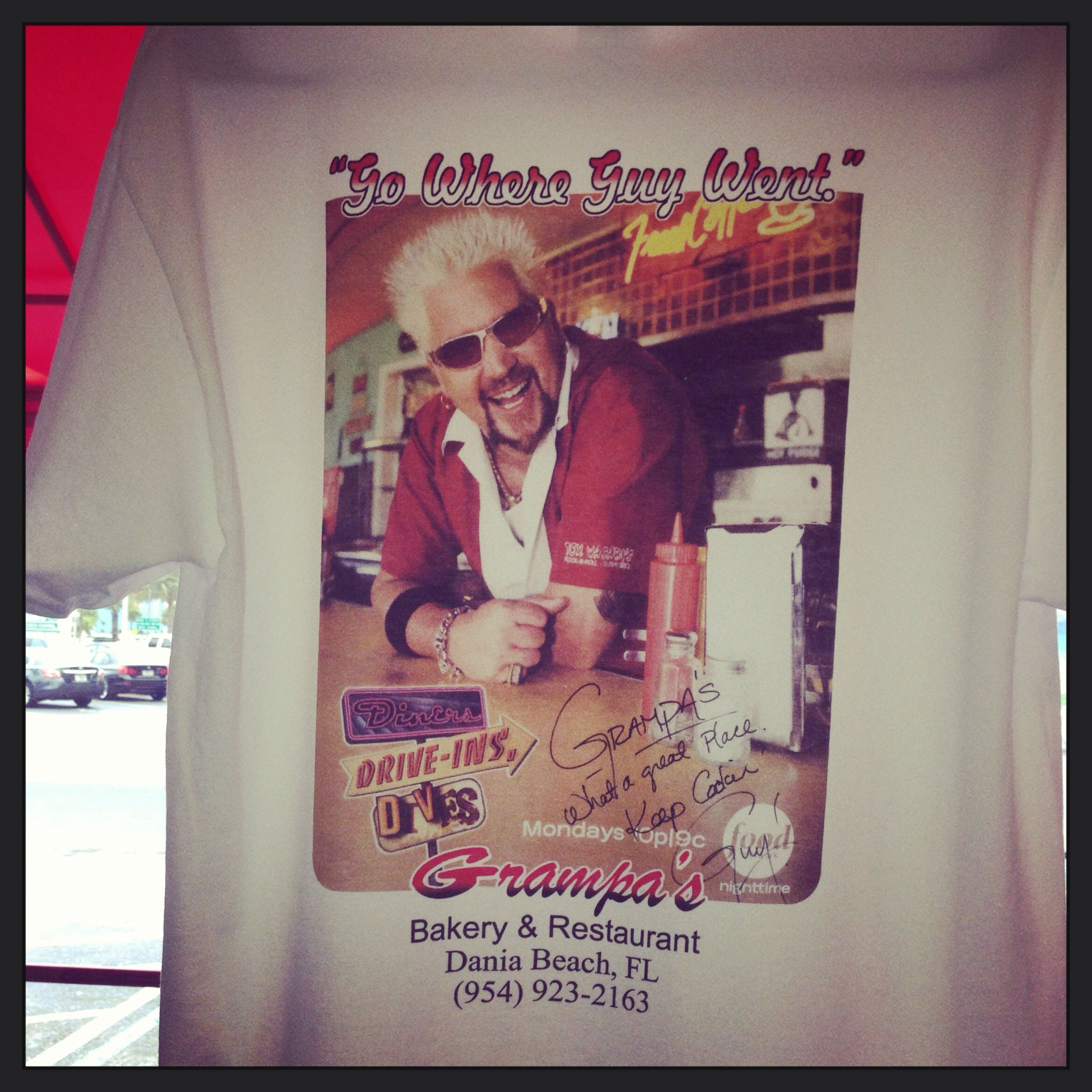 Grampa's in Dania Beach, Florida we went after we saw on