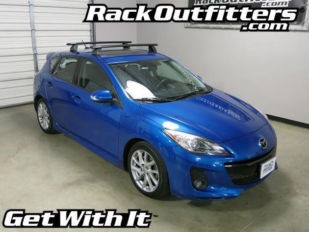 Mazda 3 Hatchback Rhino Rack 2500 Fmp Aero Black Roof Rack 10 13 Roof Rack Mazda 3 Hatchback Hatchback