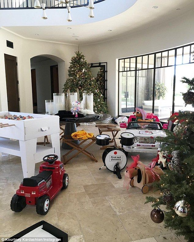 Kourtney Kardashian Shows All Of The Presents Her Kids Got
