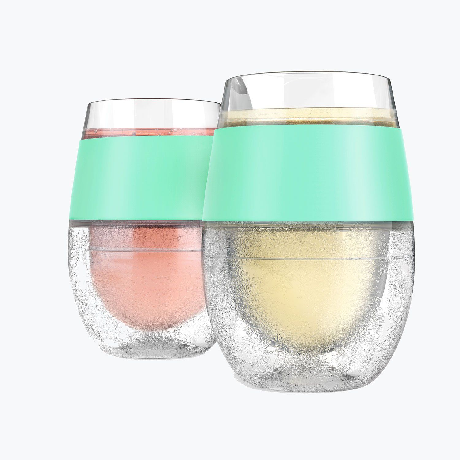 Wine Freeze Cooling Cups In Mint Set Of 2 Wine Glass Set Wine