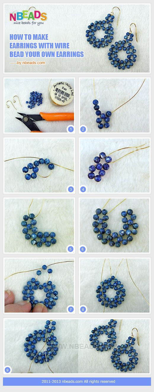 how to make earrings with wire-bead your own earrings | pendientes ...