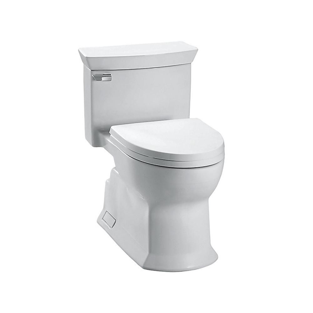 TOTO Eco Soiree 1-Piece 1.28-GPF Single-Flush Elongated Toilet in ...