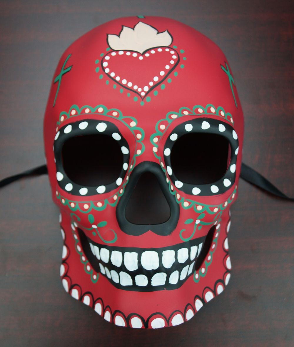 Day of the dead mask red sugar skull living room pinterest day of the dead mask red dailygadgetfo Images