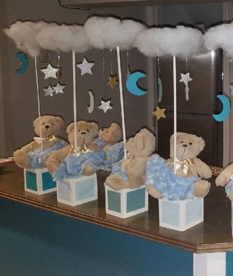 Teddy Bear Themed Baby Shower Centerpieces Teddy Bears Moon Etsy