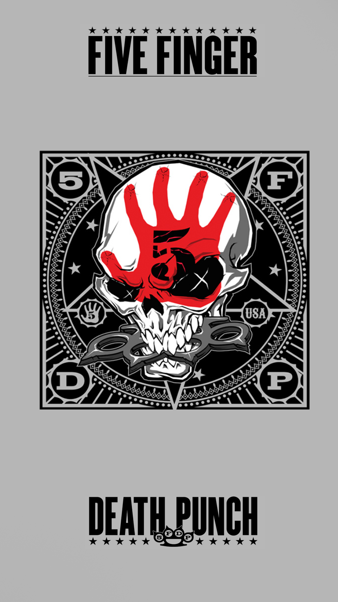 5 Finger Death Punch Decal Sticker Free Shipping