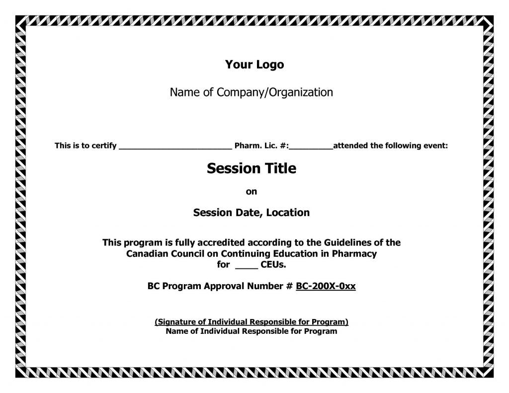 The Outstanding Ceu Certificate Of Completion Template Brochure Te Certificate Of Completion Template Certificate Templates Certificate Of Achievement Template