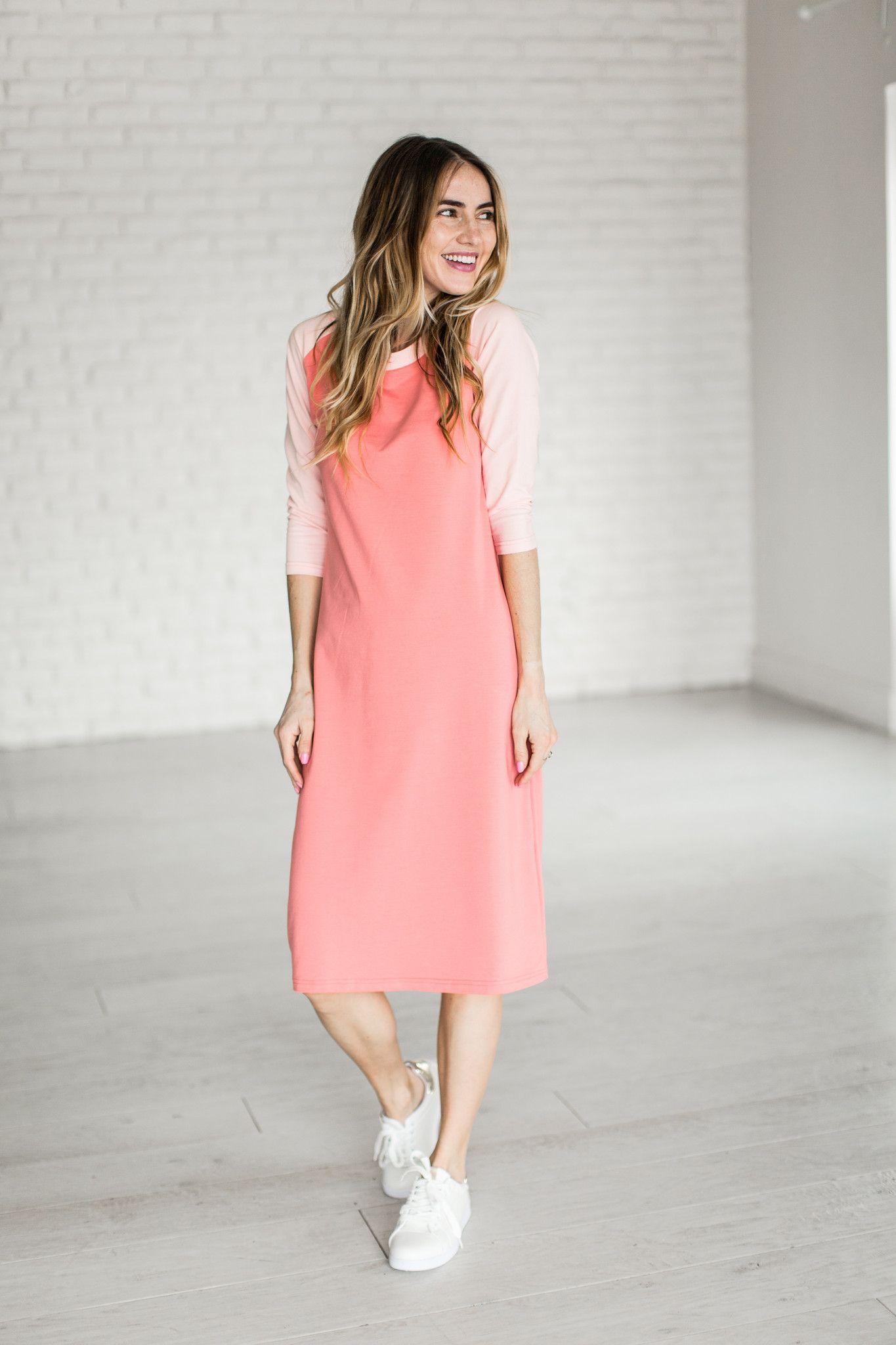 4c1ec8689e66 Dress Mindy Pinterest Pink In Mae s Market Baseball 2018 Dresses dSZAq7dn