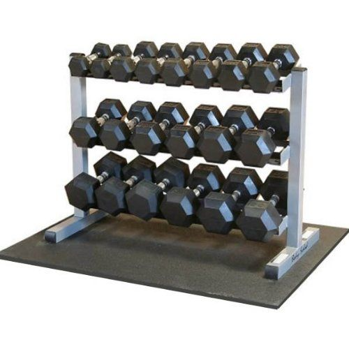 Body Solid Gdr363 Rfws Dumbbell Rack With Rubber Dumbbells Dumbbell Rack Rubber Dumbbells Weight Rack