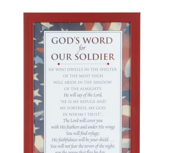 God's Words for Our Soldier Framed