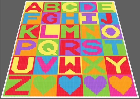 Alphabet C2C Graph (with Written Instructions) (85x104