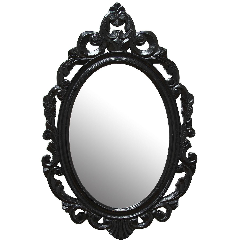 Stratton Home Decor Black Baroque Mirror (Black) | Baroque mirror ...