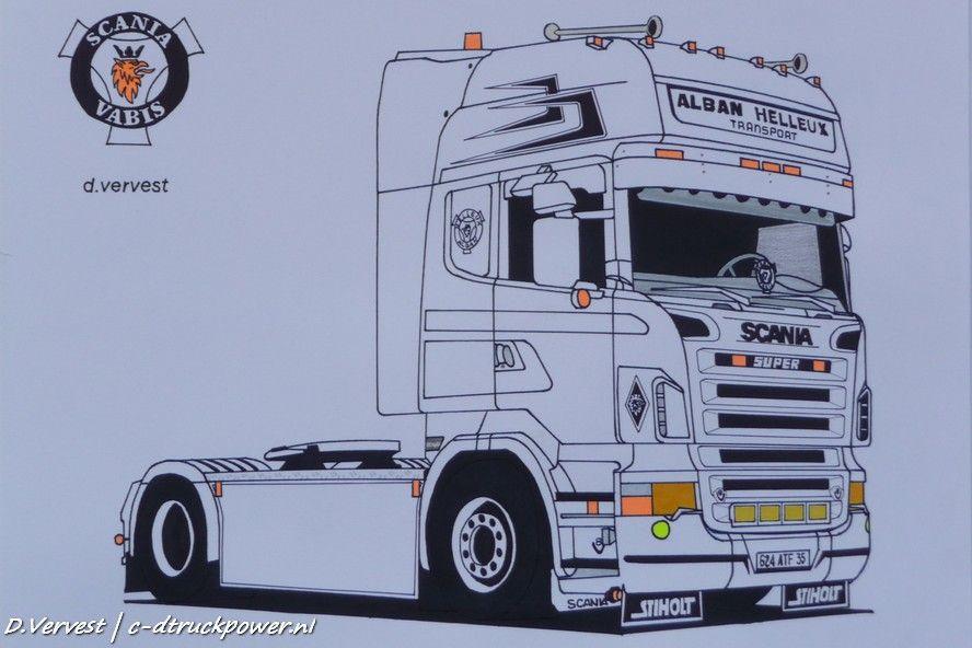 Scania Ausmalbilder