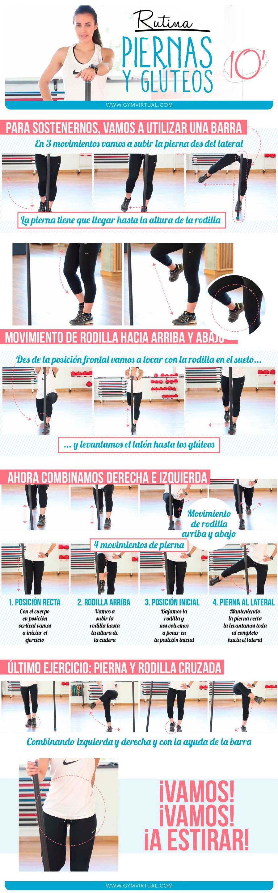 Rutina 10 minutos de ejercicios de piernas y gl teos paso for Ejercicios de gym