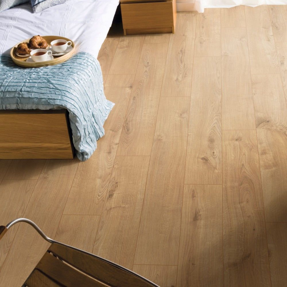 Nest 8mm Amsterdam Oak 4V Groove Laminate Flooring in 2020