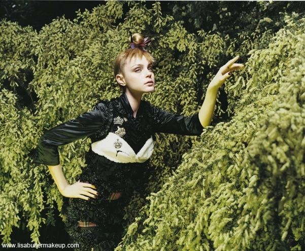 Vogue Italia Nov 2008 – the enchanted garden | Photographer Solve Sundsbo | Makeup: Lisa Butler | Hair: Malcom Edwards | Stylist: Jacob K