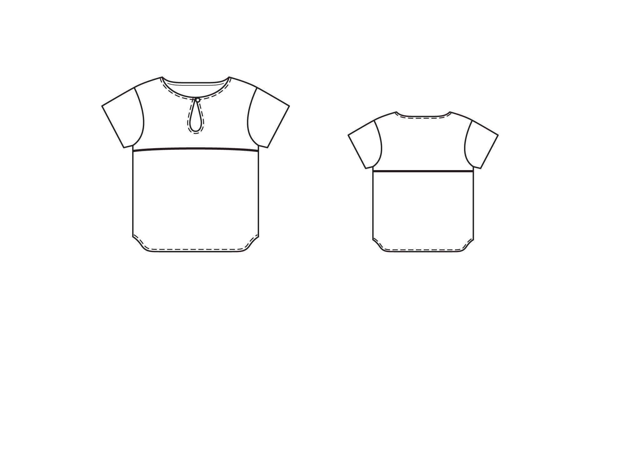 блузки выкройки с присборенной горловиной