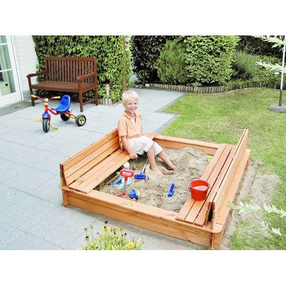 sandkasten donald mit klappbarer abdeckung 140 cm x 140 cm balkon pinterest sandkasten. Black Bedroom Furniture Sets. Home Design Ideas