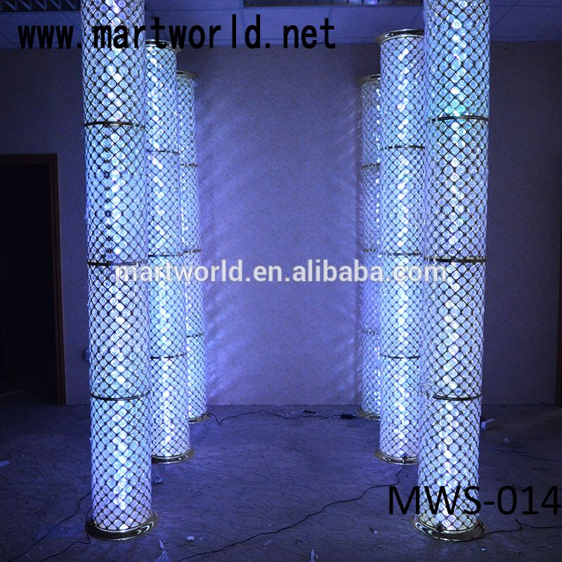 High Quality Decorative Crystal Pillars For Wedding Stage