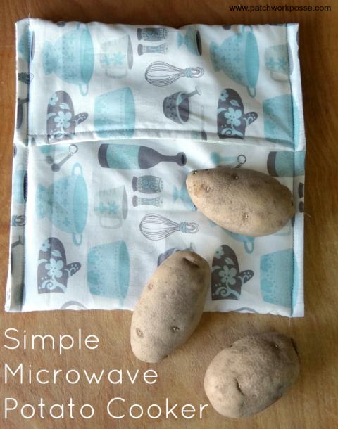 Microwave Potato Bag How To Sew A Potato Microwave Bag Tutorial