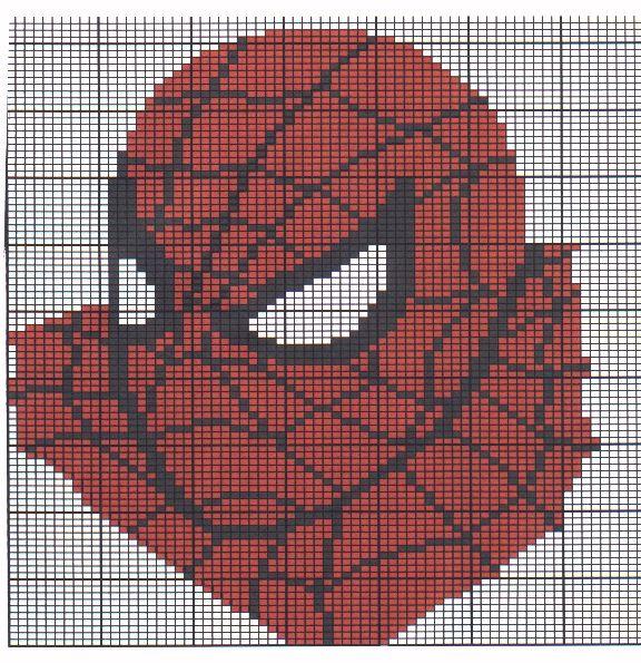 spiderman cross stitch patterns | spiderman | Crochet Graph Patterns ...