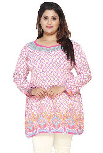ad5eea0554 Maple Clothing Women s Plus Size Indian Kurtis Tunic Top Printed ...