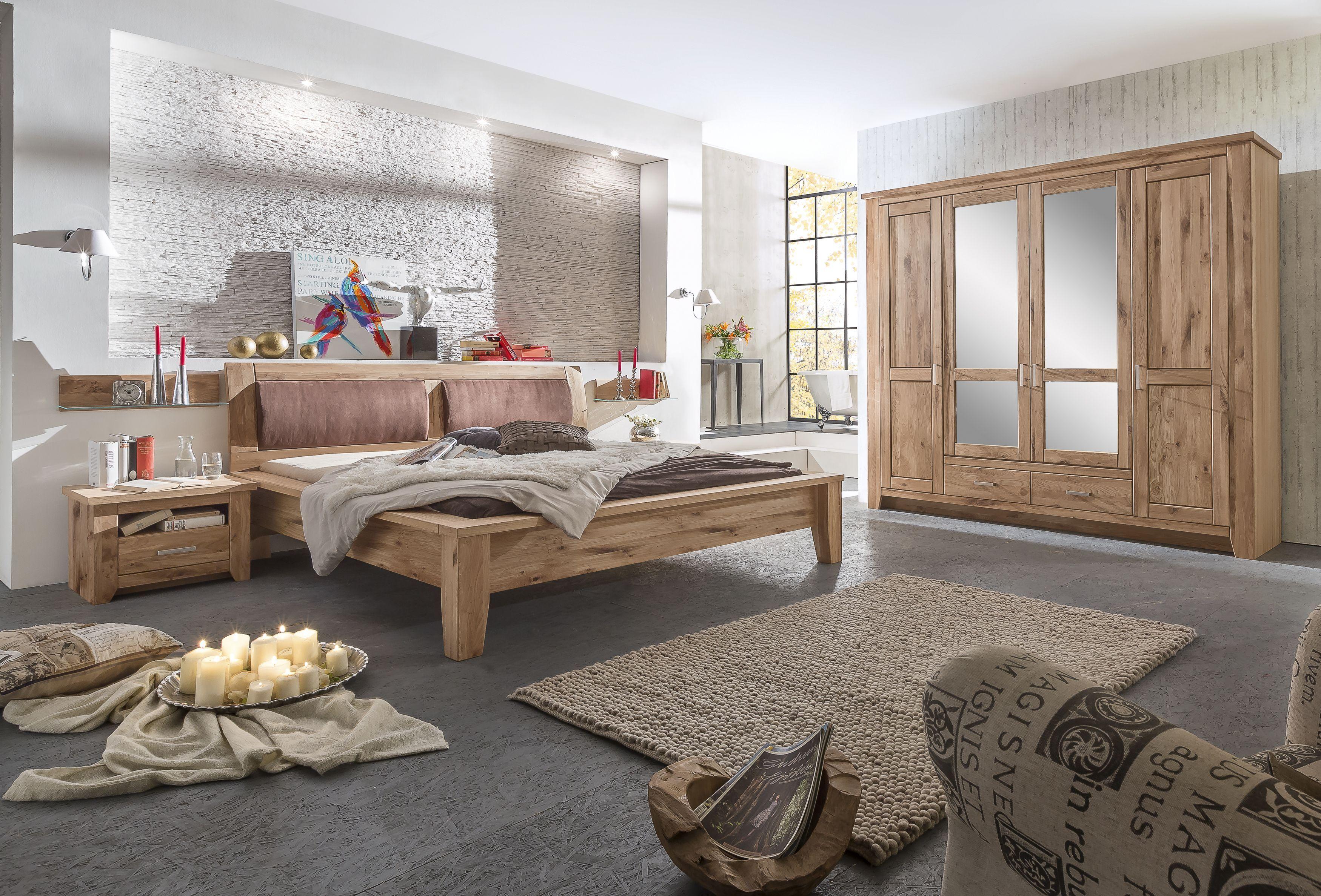 Schlafzimmer Mit Bett 180 X 200 Cm Asteiche Geölt