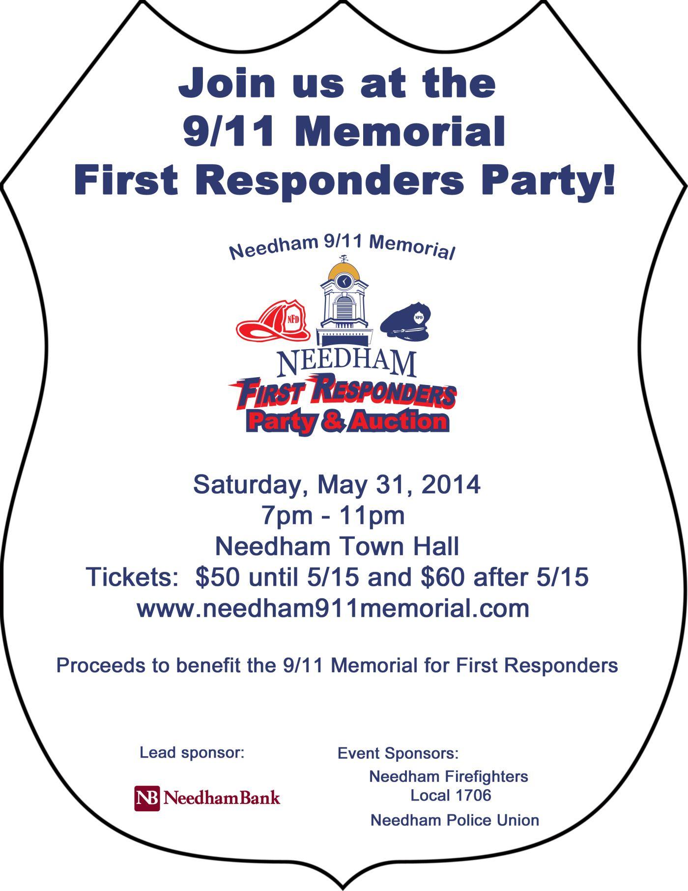 Party Flyer 911 Memorial Fundraiser 53114 Fundraising
