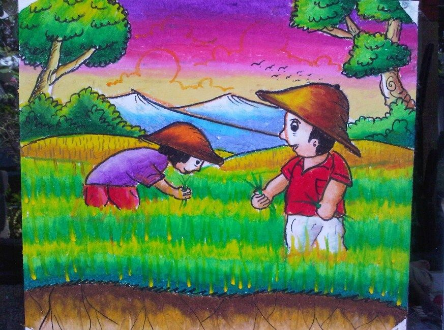Hasil Gambar Untuk Mewarnai Ayam Dengan Crayon Dengan Gambar