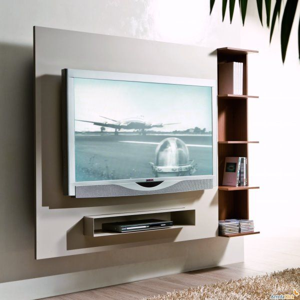 porta-tv-a-parete-ghost.jpg (600×600) | simple modern tv wall ...