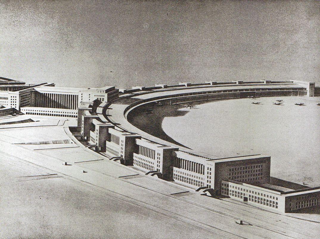 Ernst sagebiel model flughafen tempelhof 1937 berlin for Architektur 1960