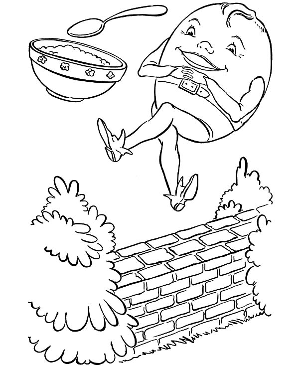 Humpty Dumpty And A Bowl Of Rice Coloring Pages : Coloring