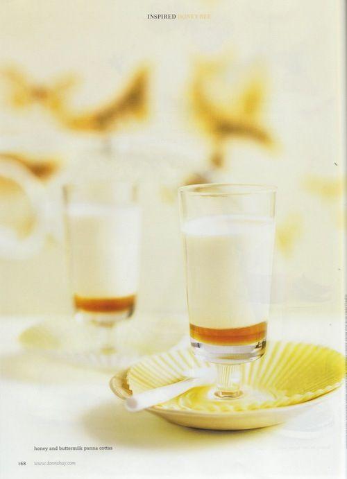 Donna Hay, honey buttermilk panna cotta