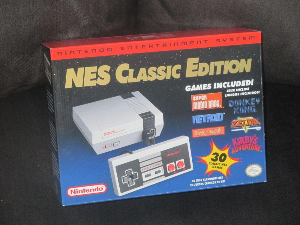 Nintendo Nes Classic Edition Mini 30 Games System Console Nib Vhtf