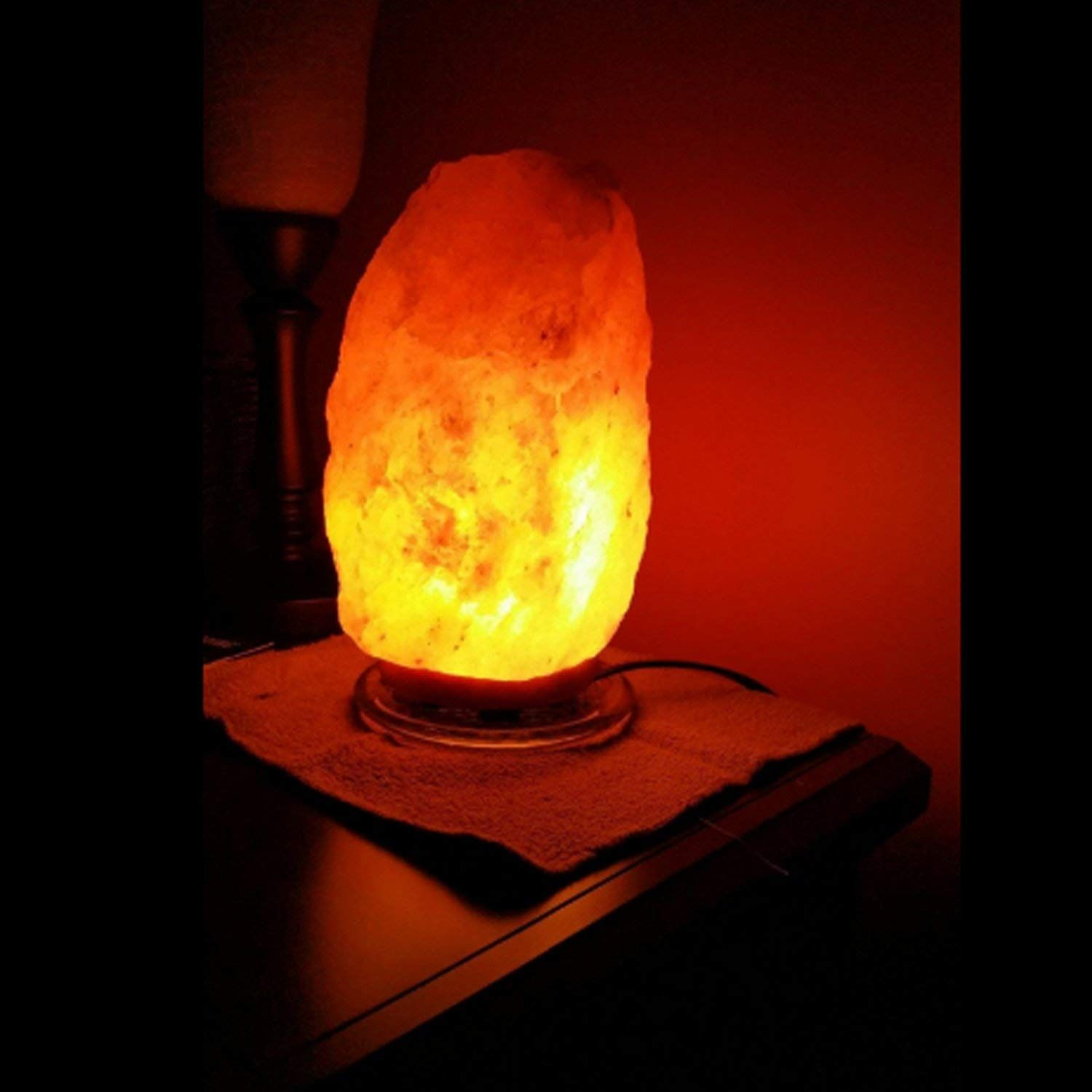 This Salt Lamp Is Hand Made From Salt Crystals From The Himalayan
