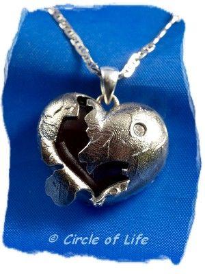 925 Sterling Zilveren gebroken hart assieraad. Artikel Z028