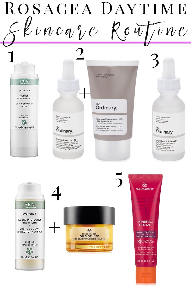 How To Create A Daytime Skincare Routine For Rosacea Sensitive Dry Skin And Anti Aging With The Ordi Rosacea Skin Care Daytime Skincare Routine Dry Skin Care