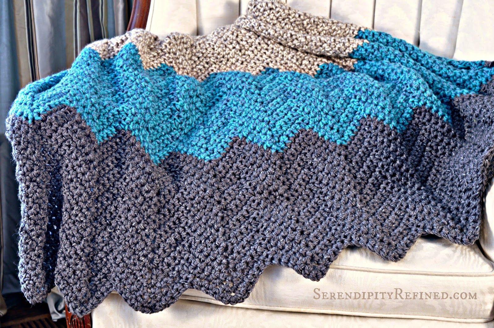 Serendipity Refined Blog: Easy Crochet Throw Blanket Pattern ...